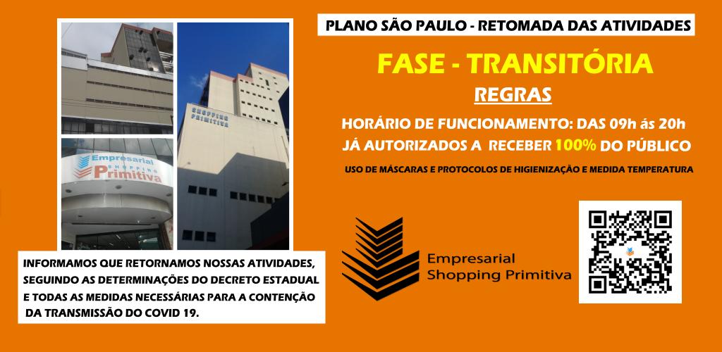FASE TRANSITÓRIA DE RETOMADA DAS ATIVIDADES